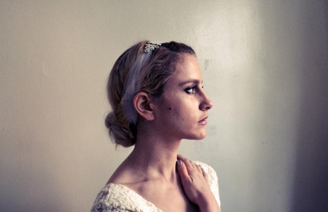DIY Stretchy Rhinestone Headband For A Bride