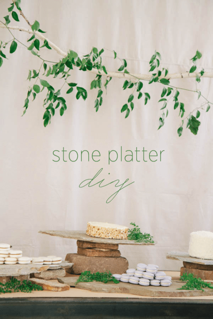 Original DIY Stone Platter For Food Bars At Your Wedding