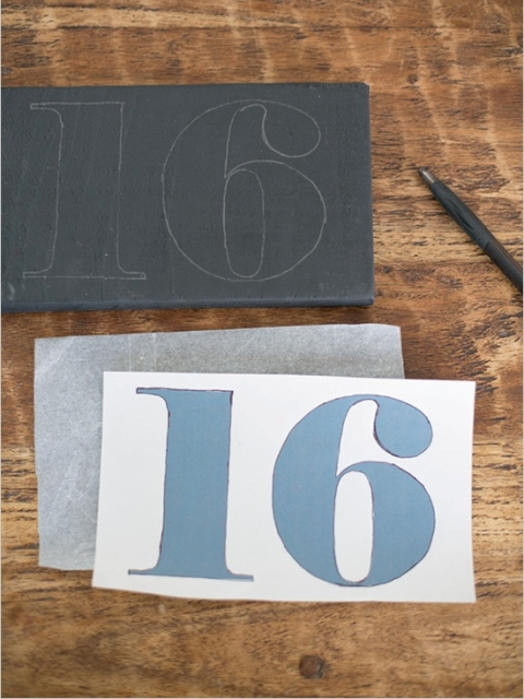 Picture Of Simple DIY Shining Wedding Table Numbers 6