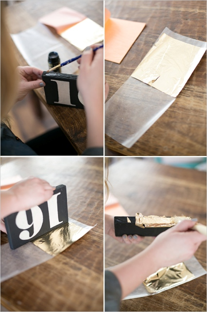 Picture Of Simple DIY Shining Wedding Table Numbers 8