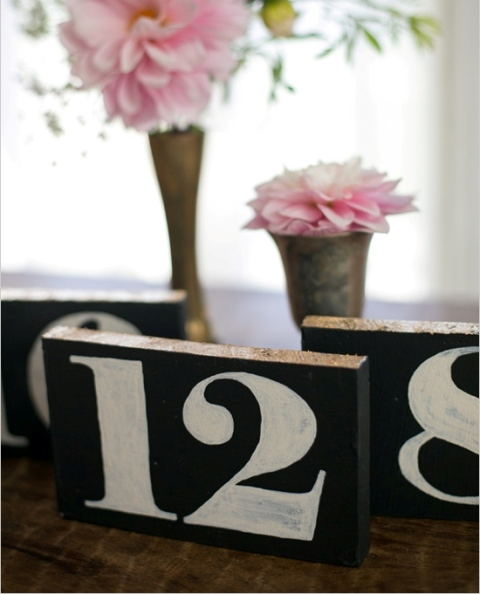 Simple DIY Shining Wedding Table Numbers