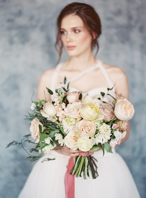 Blush, Peach And Blue Organic Spring Wedding Ideas
