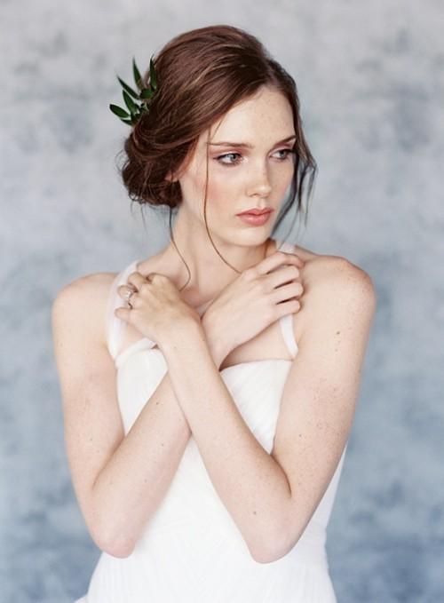 Blush, Peach And Blue Organic Spring Wedding Ideas