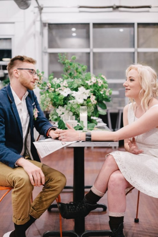 Casual And Intimate Coffeeshop Wedding Inspirational Shoot