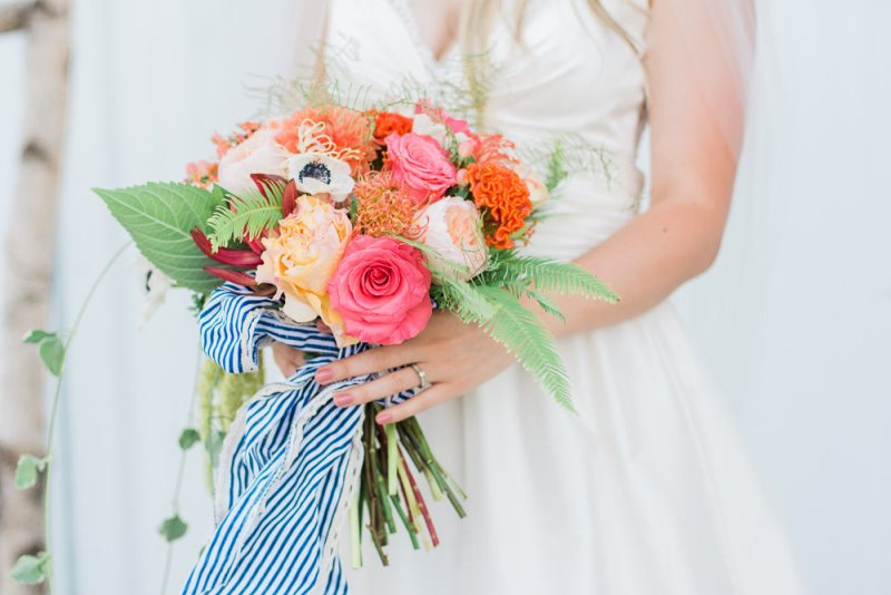 Picture Of charming preppy nautical summer wedding shoot  12