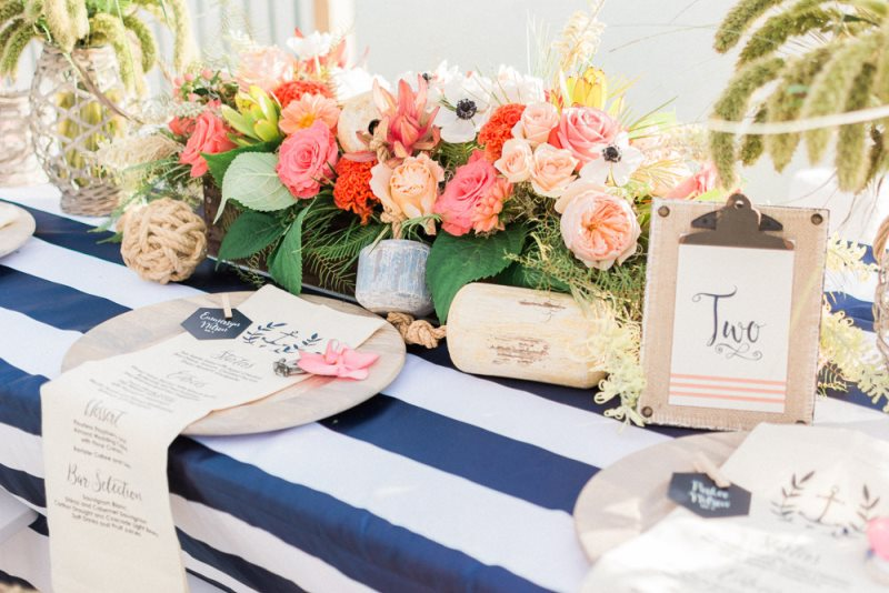 Picture Of charming preppy nautical summer wedding shoot  13