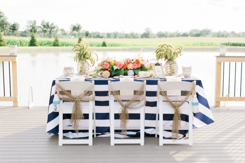 Picture Of charming preppy nautical summer wedding shoot  3
