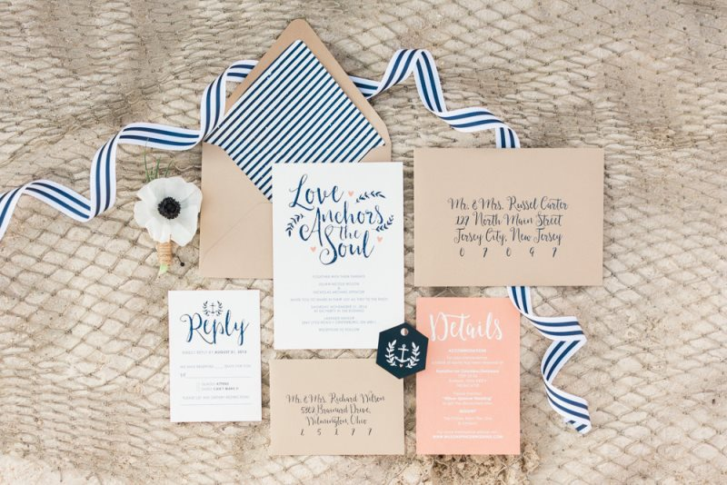 Picture Of charming preppy nautical summer wedding shoot  6