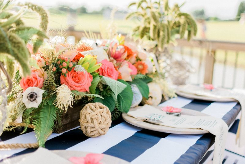 Picture Of charming preppy nautical summer wedding shoot  9