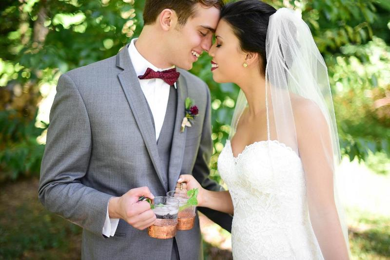 Picture Of charming woodsy christmas themed wedding  15