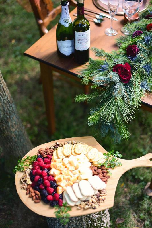 Charming Woodsy Christmas Themed Wedding