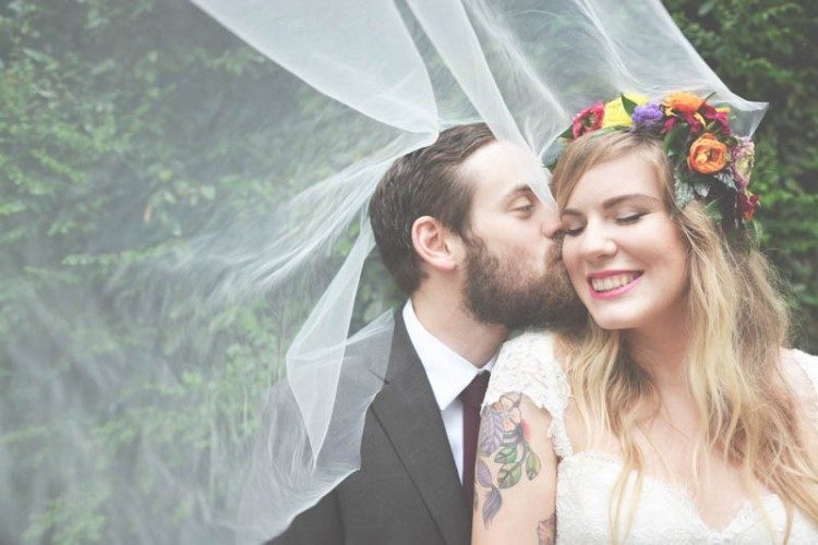Cozy And Colorful Vintage Bohemian Barn Wedding