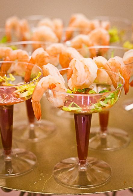 delicious Valentine appetizers of shrimps, herbs and sauce are exquisite and look gorgeous