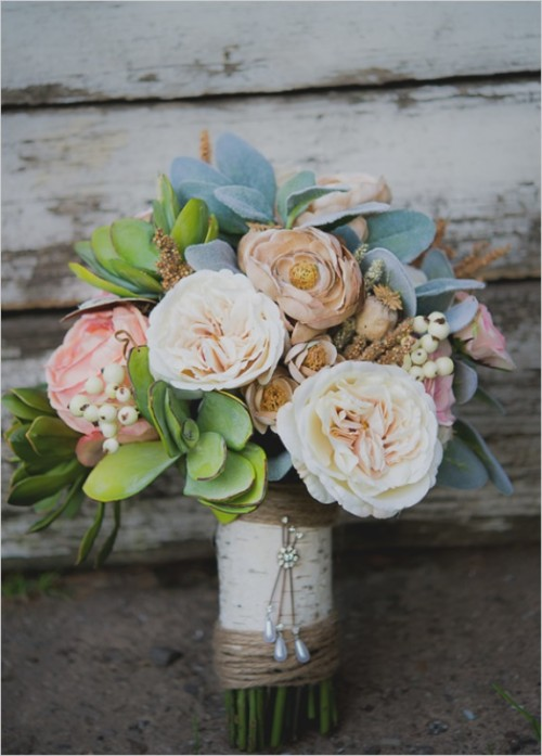 DIY Faux Flower Wedding Bouquet That Looks Like Natural