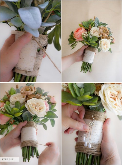 Wedding Flower Bouquets How To Make : Diy faux flower wedding bouquet that looks like natural