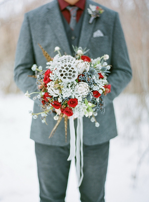 Elegant Winter Groom's Wedding Style Inspiration