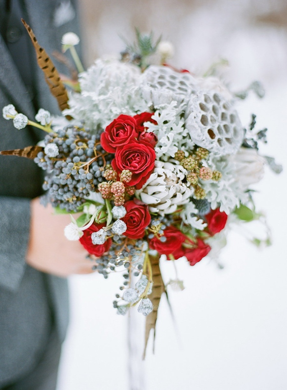 Picture Of elegant winter grooms wedding style inspiration  10
