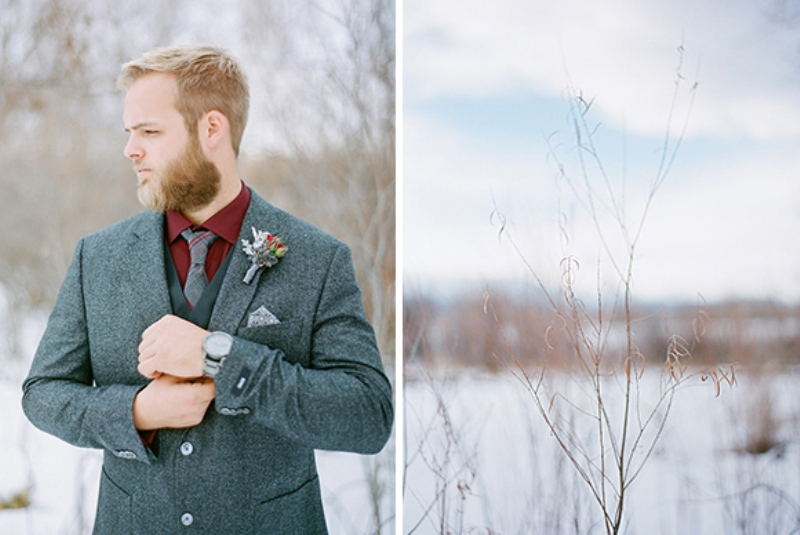 Picture Of elegant winter grooms wedding style inspiration  6