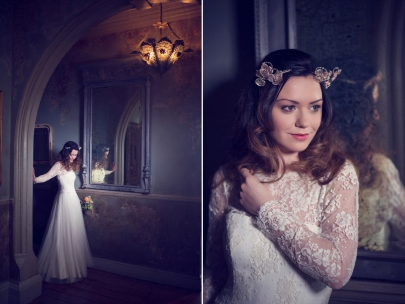 Picture Of ethereal nature inspired bridal accessories collection from cherished  14