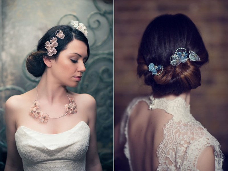 Picture Of ethereal nature inspired bridal accessories collection from cherished  5