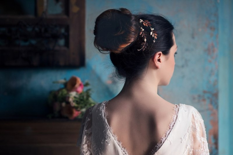Picture Of ethereal nature inspired bridal accessories collection from cherished  6
