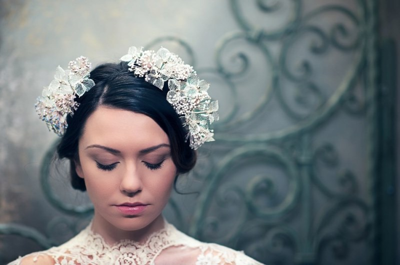 Picture Of ethereal nature inspired bridal accessories collection from cherished  8