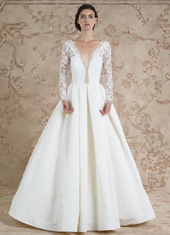 Ethereal sareh nouri fall 2016 bridal dresses collection for Wedding dresses for small breasts