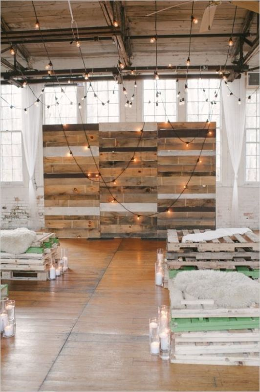 Industrial Wedding Ceremony Decor Ideas