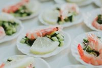 mini tartlets with shrimps, cucumbers and lemon are amazing appetizers for seafood lovers