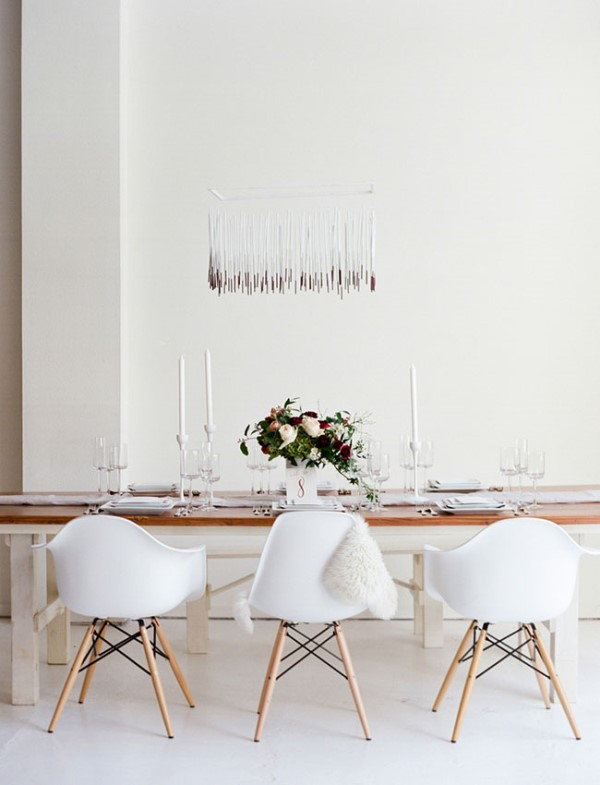 Picture Of modern marsala wedding inspiration in the industrial loft  12
