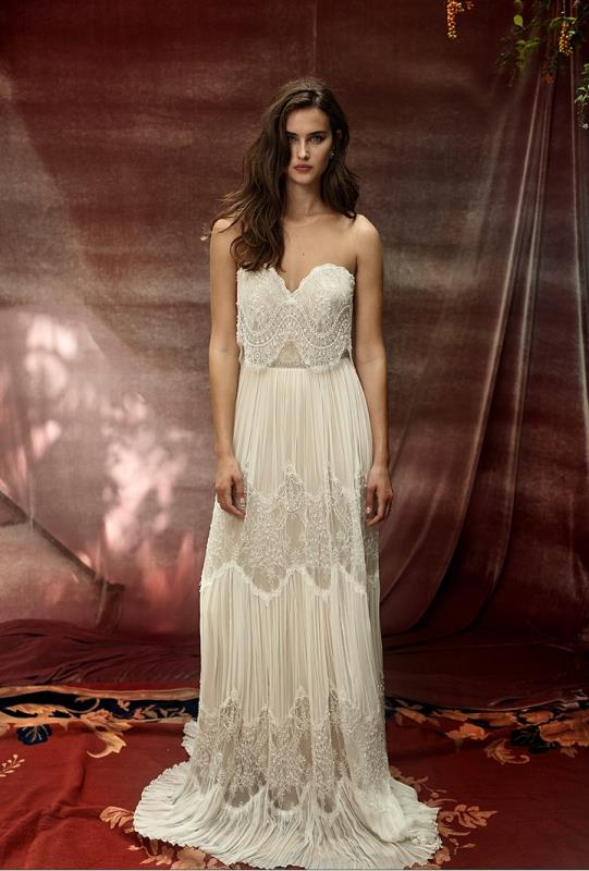 Picture Of more than beautiful white bohemian wedding dress collection from lili hod  1