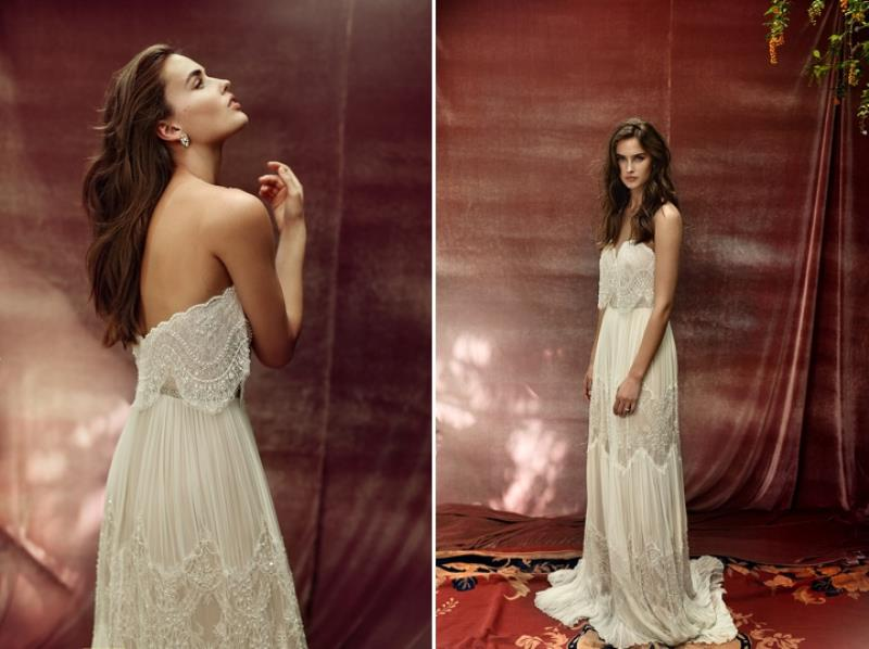 Picture Of more than beautiful white bohemian wedding dress collection from lili hod  16