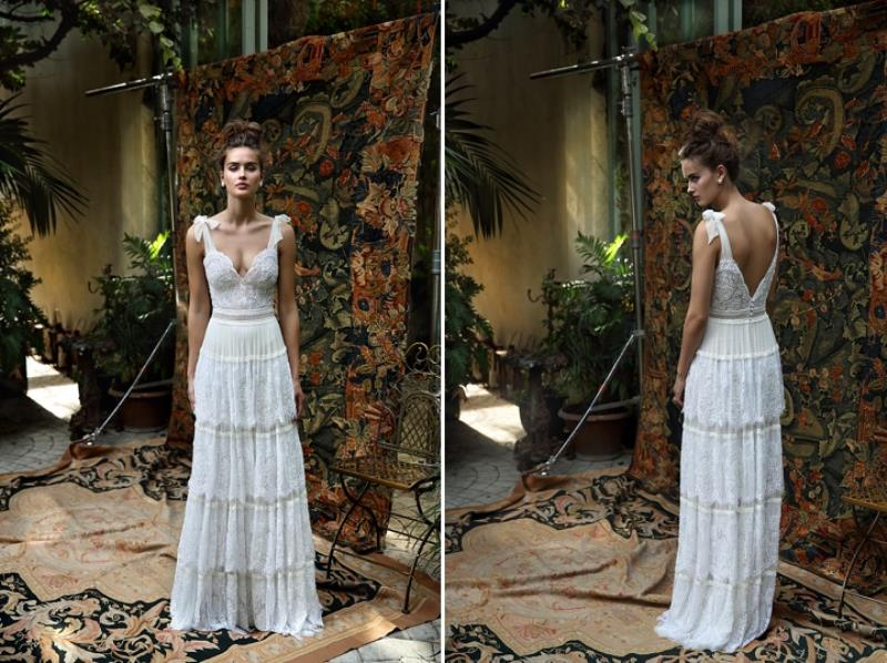 Picture Of more than beautiful white bohemian wedding dress collection from lili hod  17