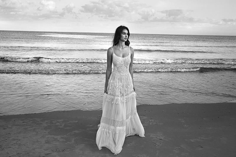 Picture Of more than beautiful white bohemian wedding dress collection from lili hod  2