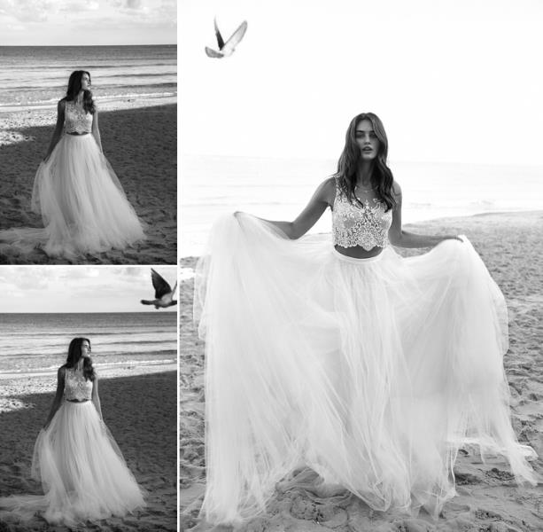 Picture Of more than beautiful white bohemian wedding dress collection from lili hod  20
