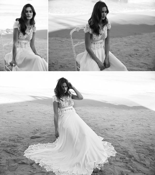 Picture Of more than beautiful white bohemian wedding dress collection from lili hod  7