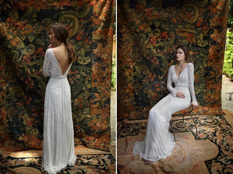 Picture Of more than beautiful white bohemian wedding dress collection from lili hod  8