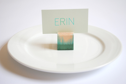 DIY Dip-Dyed Place Card Holders (via designformankind)