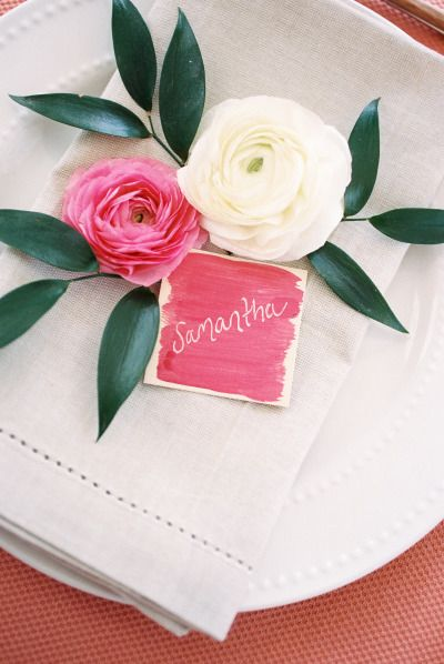 DIY Watercolor Place Cards (via stylemepretty)