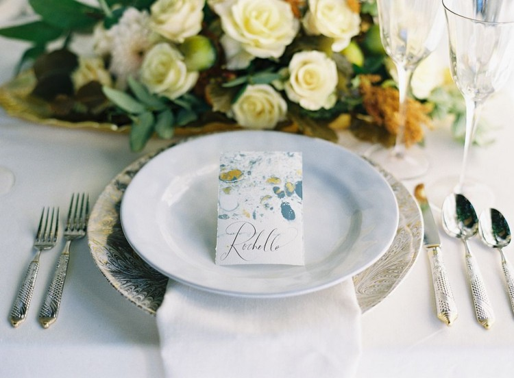 How to Marble Paper for Place Cards (via food52)
