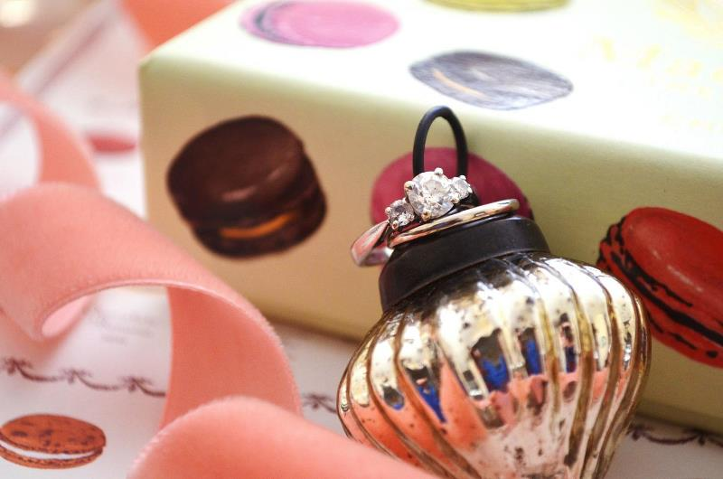 Picture Of playful and magical christmas holiday bridal shower  6