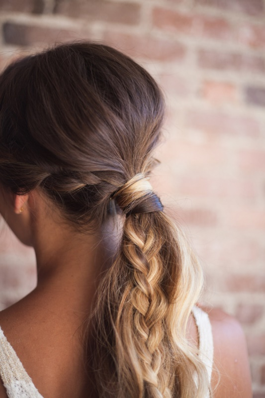 Picture Of relaxed chic diy bohemian braid and makeup for a bride  3