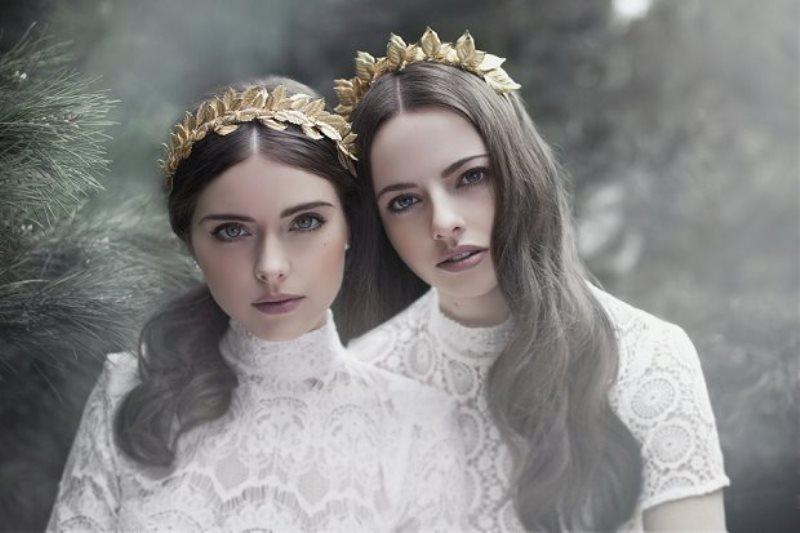 Picture Of the evocative prequel bridal headpiece 2016 collection from viktoria novak  3