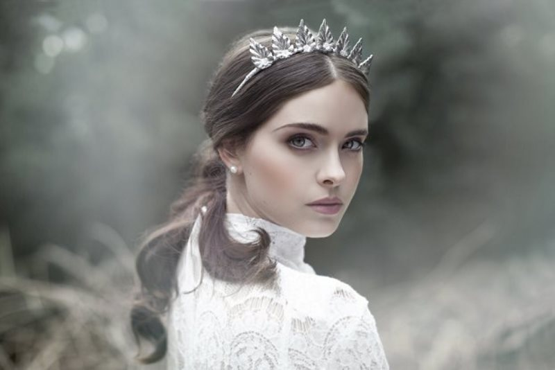 Picture Of the evocative prequel bridal headpiece 2016 collection from viktoria novak  5