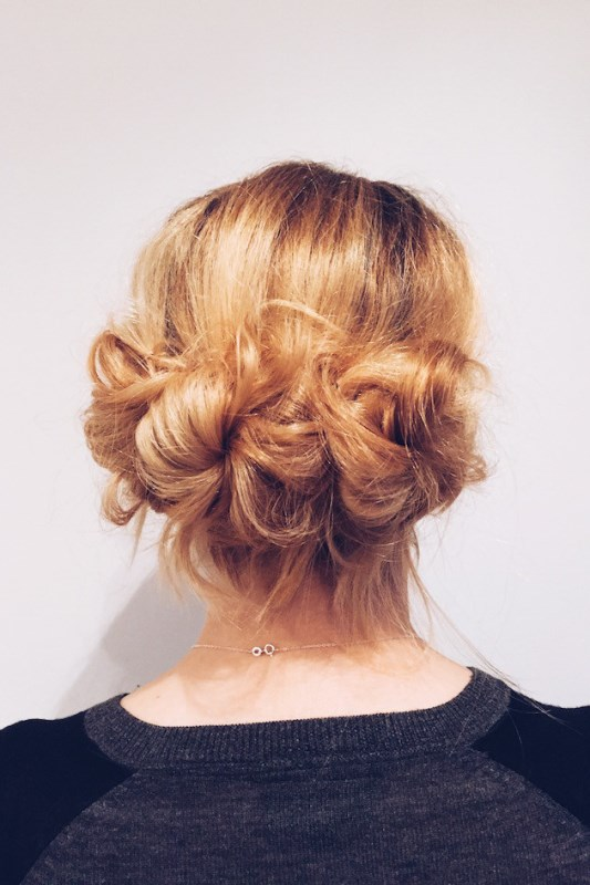 Picture Of timelessly elegant diy hair updo for a bride  5