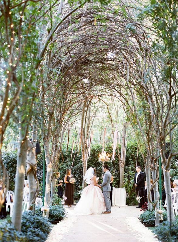 Romantic Botanical Wedding Ceremony Backdrops