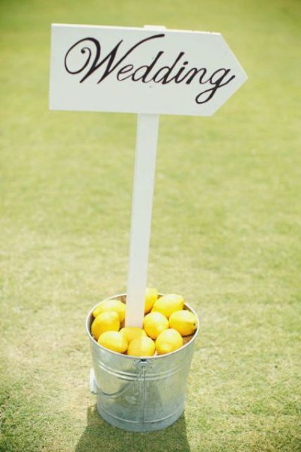 Picture Of Juicy Ideas To Incorporate Lemons Into Your Wedding 10