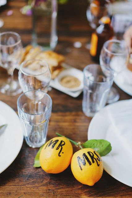 22 Juicy Ideas To Incorporate Lemons Into Your Wedding
