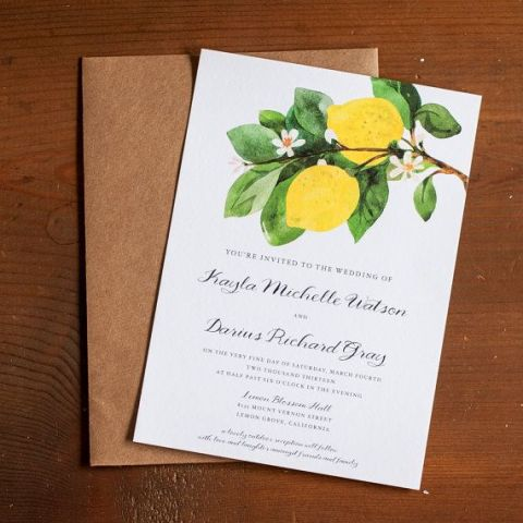 Picture Of Juicy Ideas To Incorporate Lemons Into Your Wedding 7