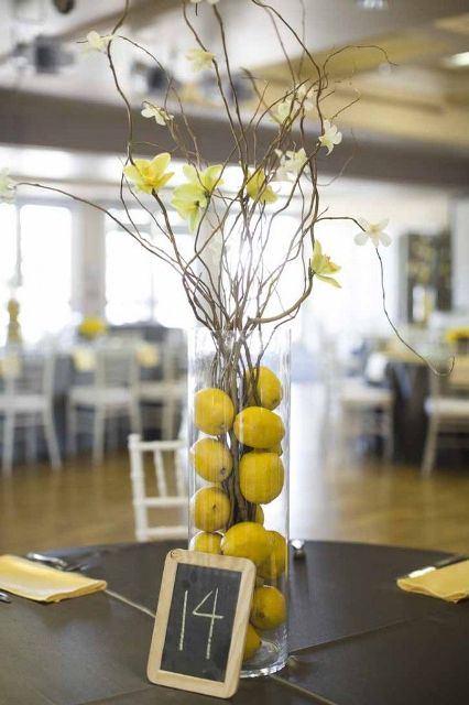 Picture Of Juicy Ideas To Incorporate Lemons Into Your Wedding 9